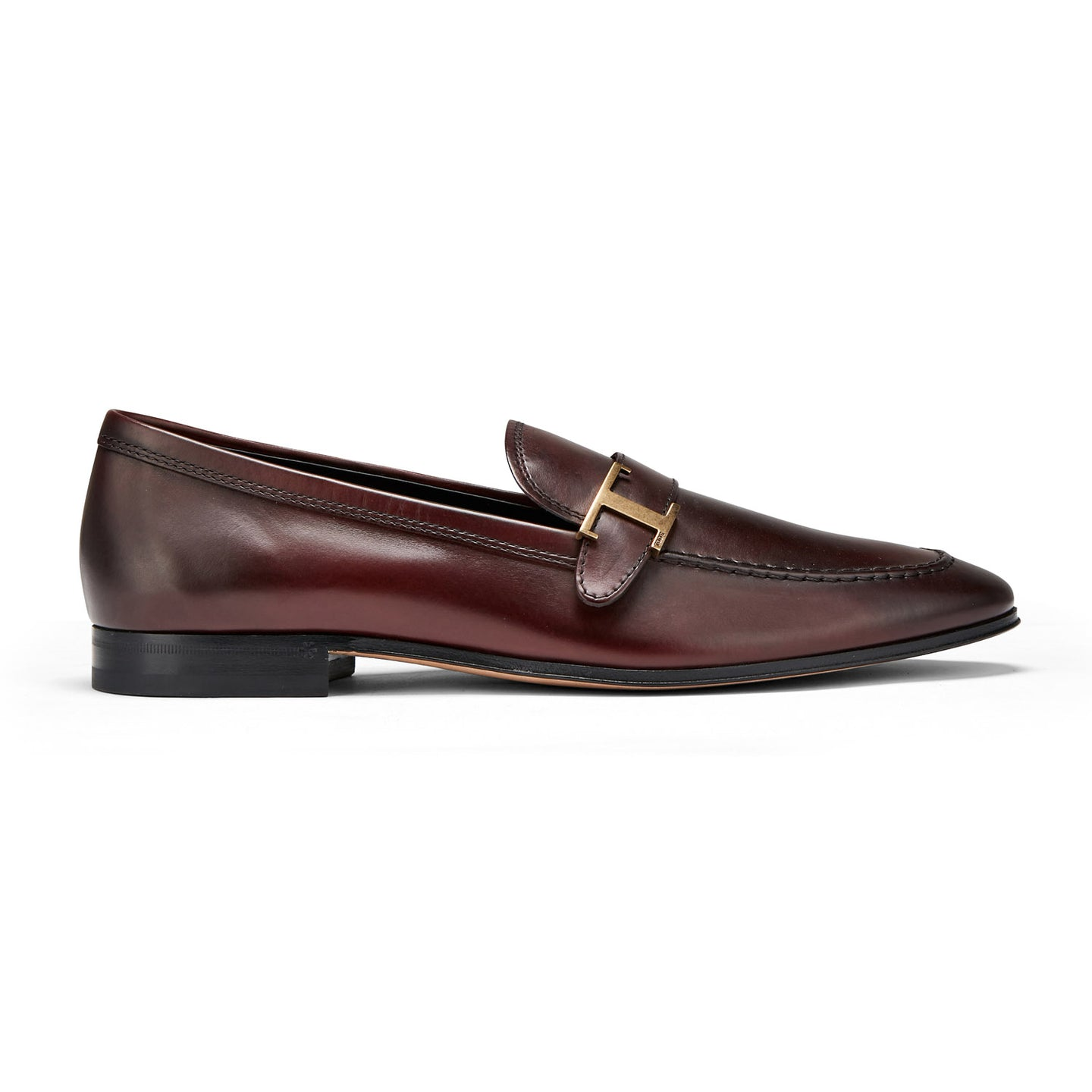 TOD's Leather T Loafer (Maroon) - Union 22