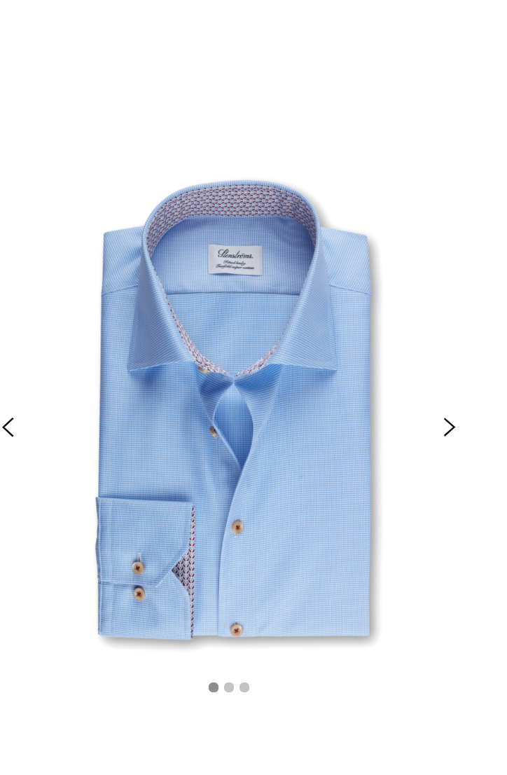 Stenstroms Micro Dog Tooth Geometric Contrast Shirt (Light Blue) - Union 22