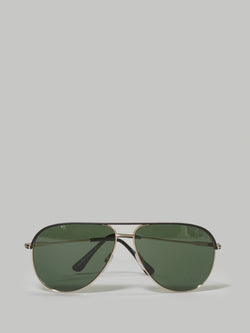Tom Ford Erin Gold and Black Trim Aviator (TF0466 05N)