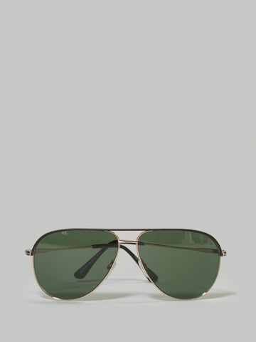 526ded253bd6 Tom Ford Erin Gold and Black Trim Aviator (TF0466 05N)