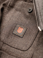 Corneliani Leather Trimmed Softouch ID Jacket (Slate Brown)