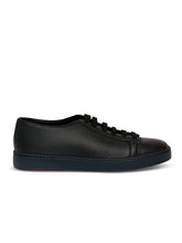 Santoni Fur Lined Low Top Trainer (Navy) - Union 22