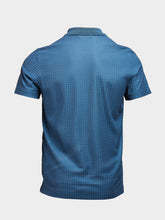 Corneliani Textured Fabric Polo (Petrol Blue)