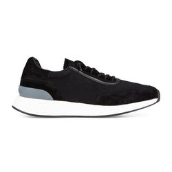 Z Zegna Techmerino™ Piuma Suede Sneakers (Black) - Union 22
