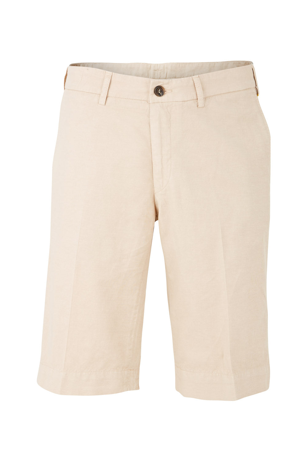 Canali Cotton & Linen Chino Shorts (Beige)