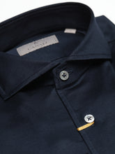 Canali Long Sleeve Sport Shirt Cut Away Collar (Navy)