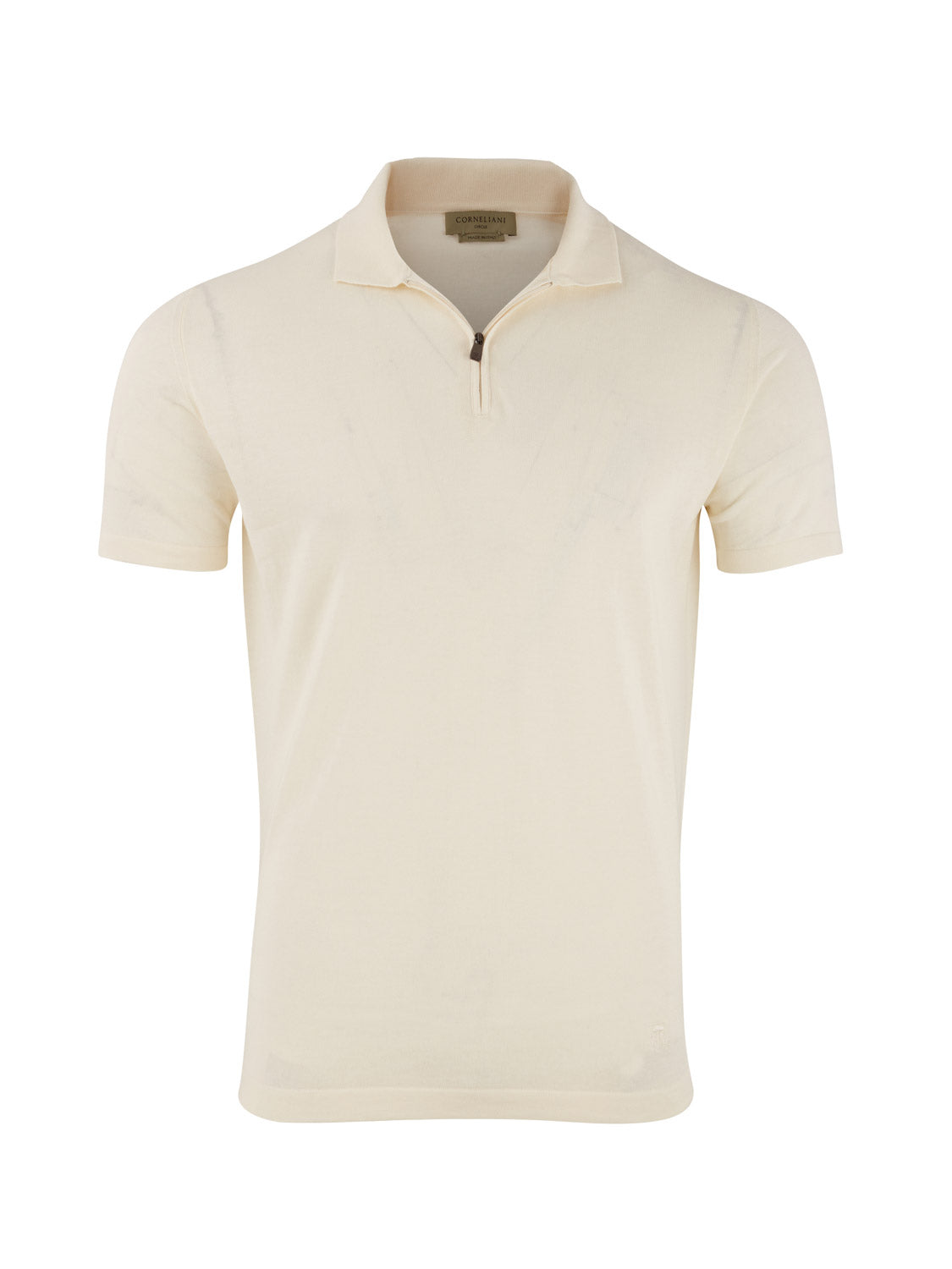 Corneliani 'Circle' Sustainable Polo (Lemon White)