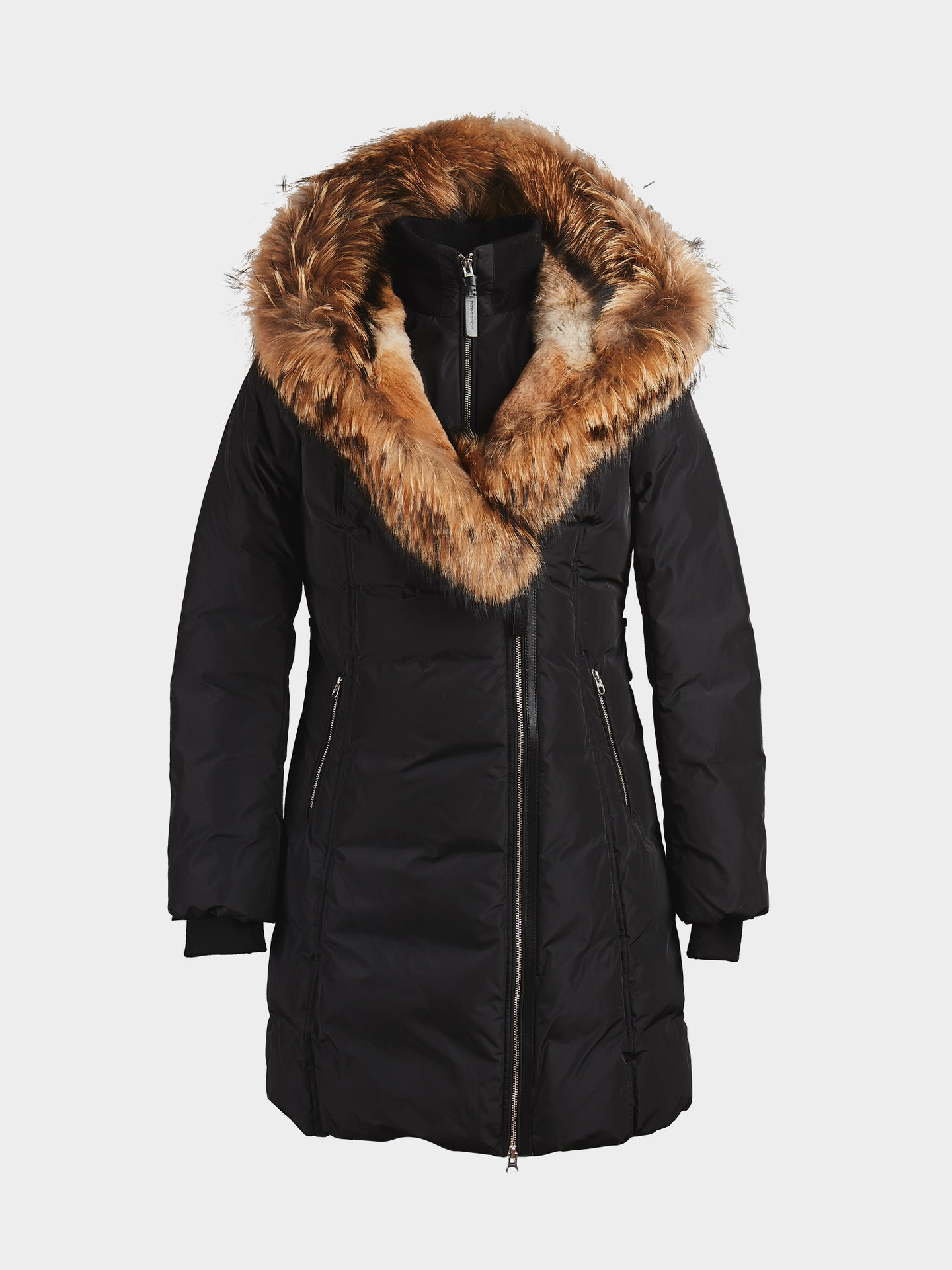 Mackage Trish Mid Length Down Coat With Fur (Black)