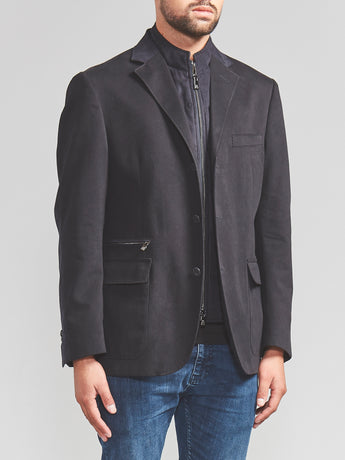 Corneliani ID Jacket with Chest Piece (Navy)