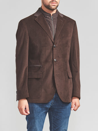 Corneliani ID Jacket with Chest Piece (Brown)