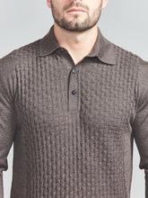 Bertolo Fermi Silk & Wool Blend Polo (Brown)