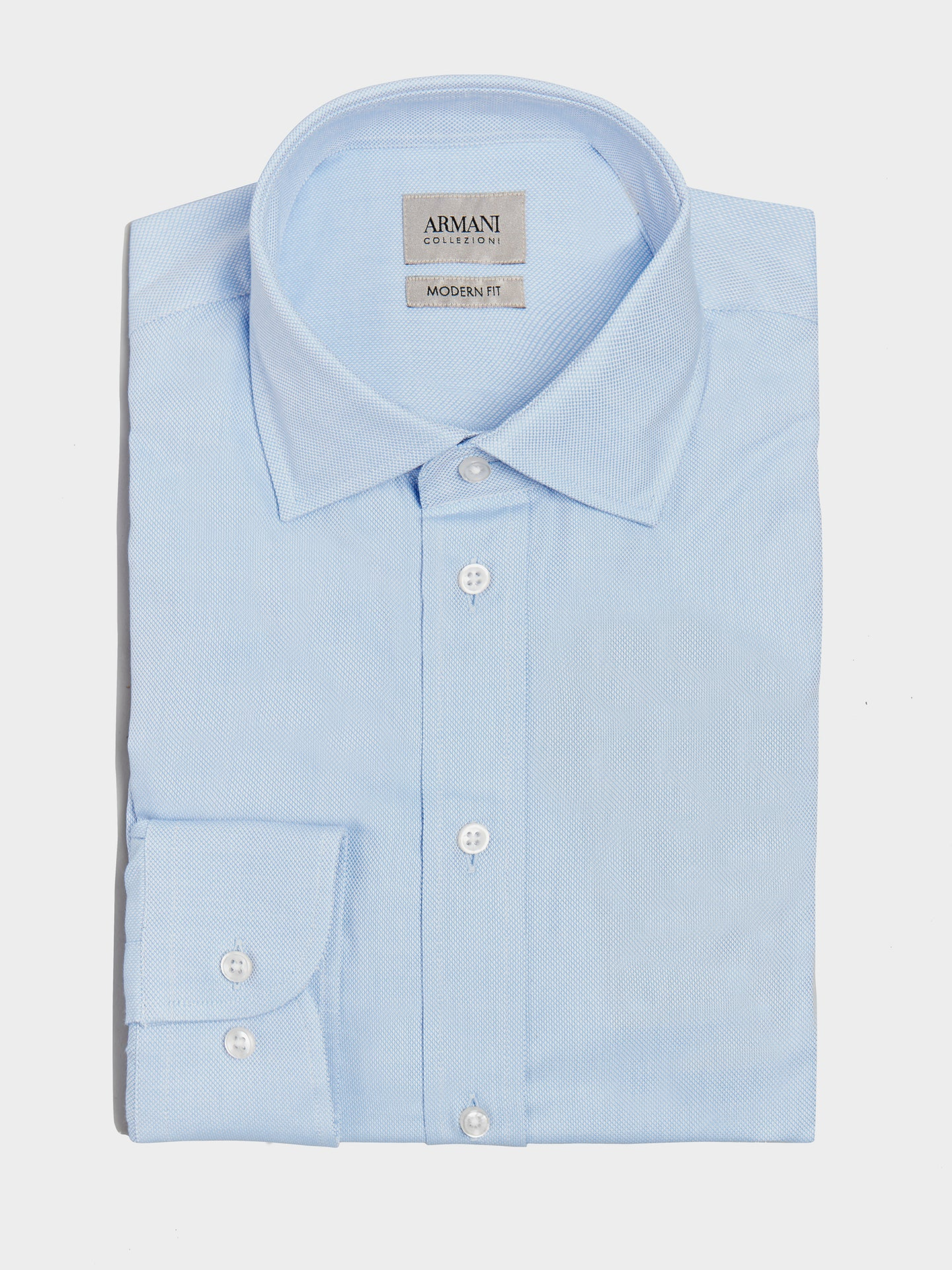 Armani Collezioni Twill Shirt (Light Blue)