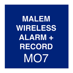 Malem Wireless Alarm + Record Instructions