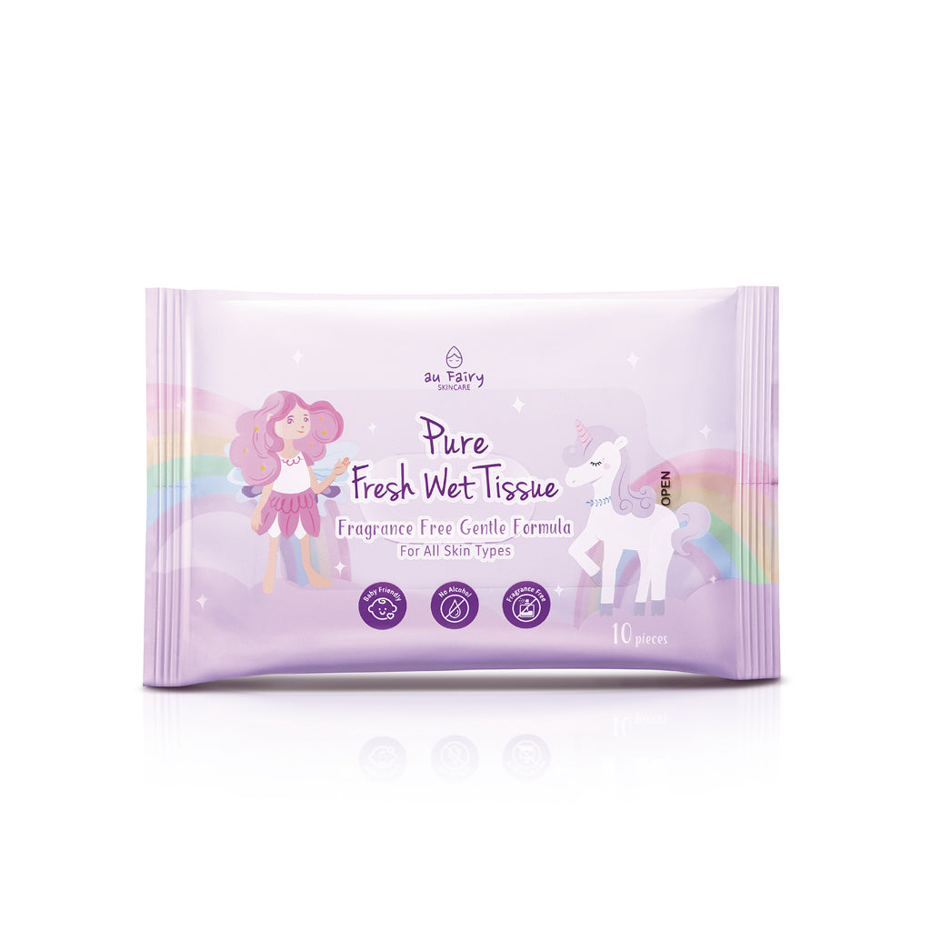 AU FAIRY Pure Fresh Wet Tissue - Fragrance Free : 10 sheets - Yoskin
