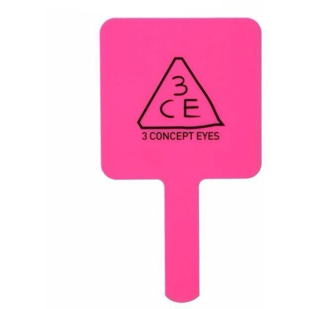 [CLEARANCE] 3CE SQUARE HAND MIRROR: Rose Beige | Pink| Black - Yoskin