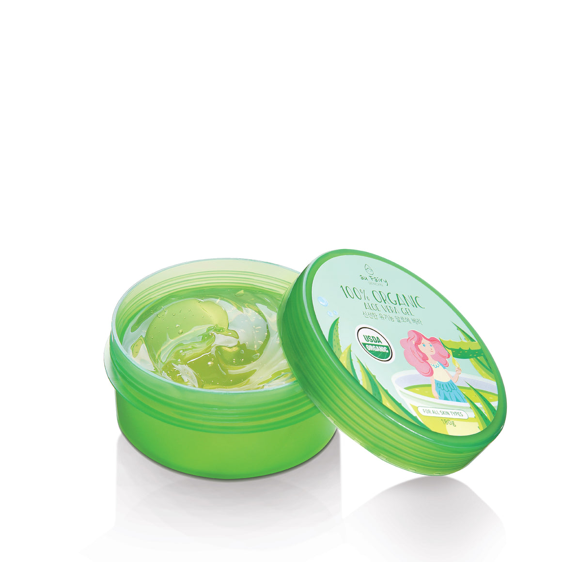 [BUNDLE PACK] AUFAIRY Soothing Spell 100% Organic Aloe Vera Gel : 2 PCS - Yoskin