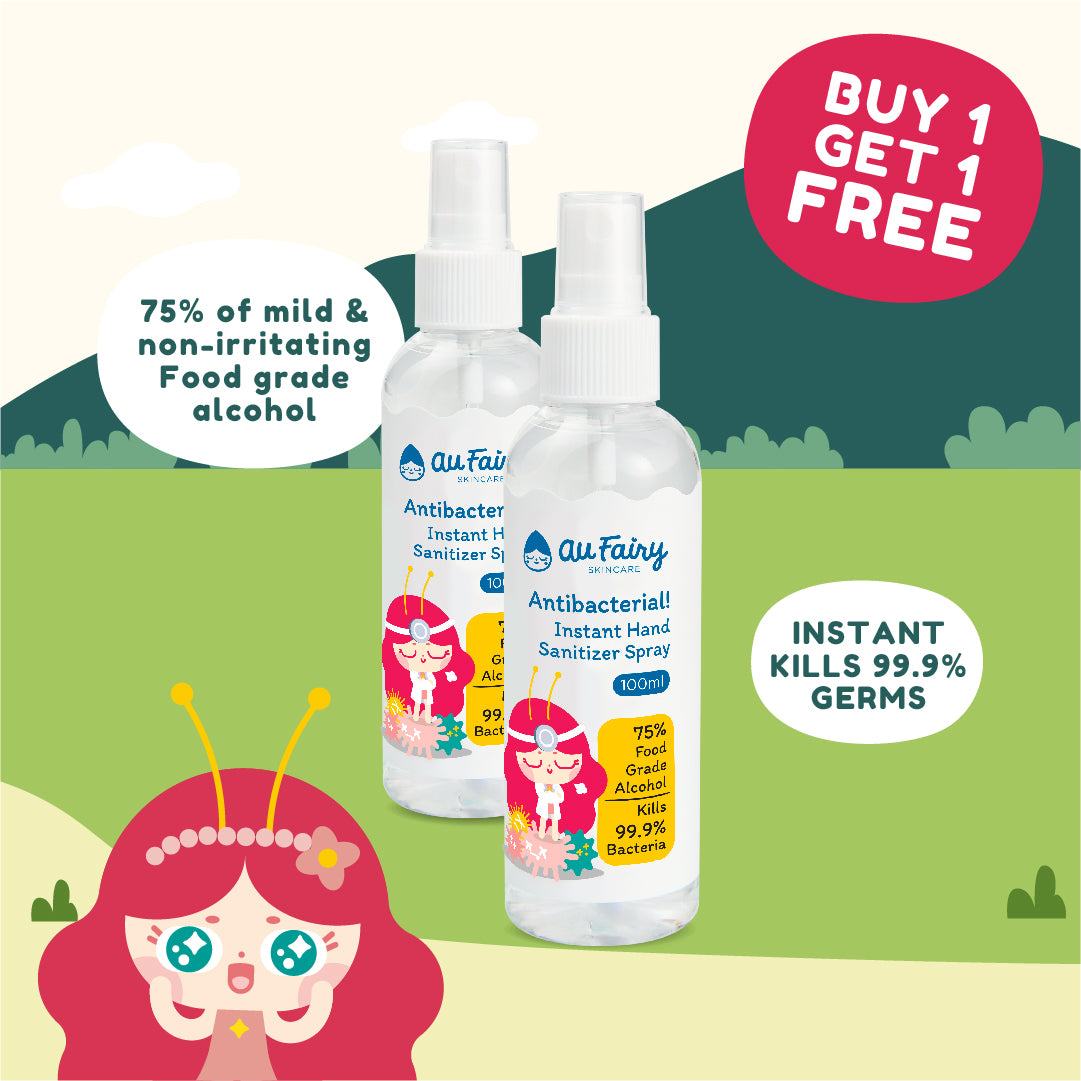 BUY 1 FREE 1: Au Fairy Antibacterial! Instant Hand Sanitizer Spray - 100ml