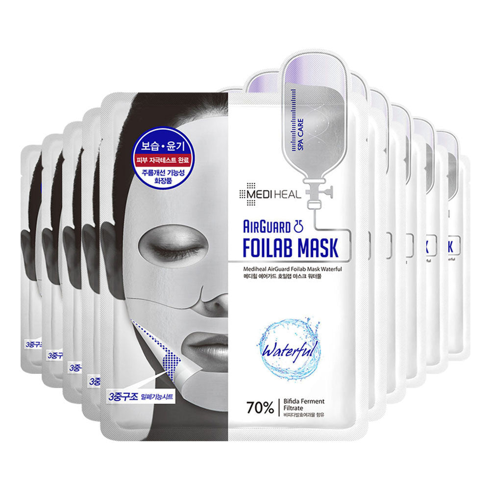 [CLEARANCE] Mediheal Airguard Foilab Mask Waterful (Silver) : 1 PC [EXPIRY: JUL '18] - Yoskin