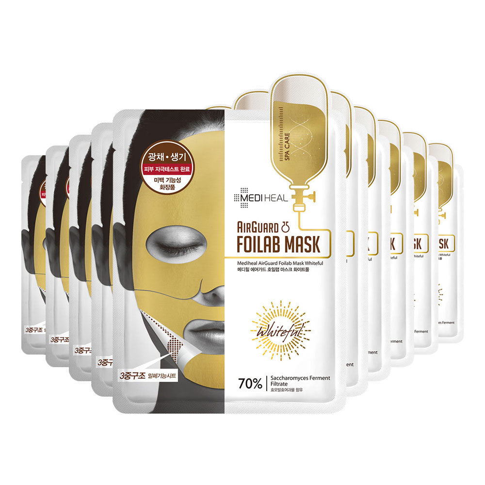 [CLEARANCE] Mediheal Airguard Foilab Mask Whiteful (Gold) : 1 PC [EXPIRY: AUG '18] - Yoskin