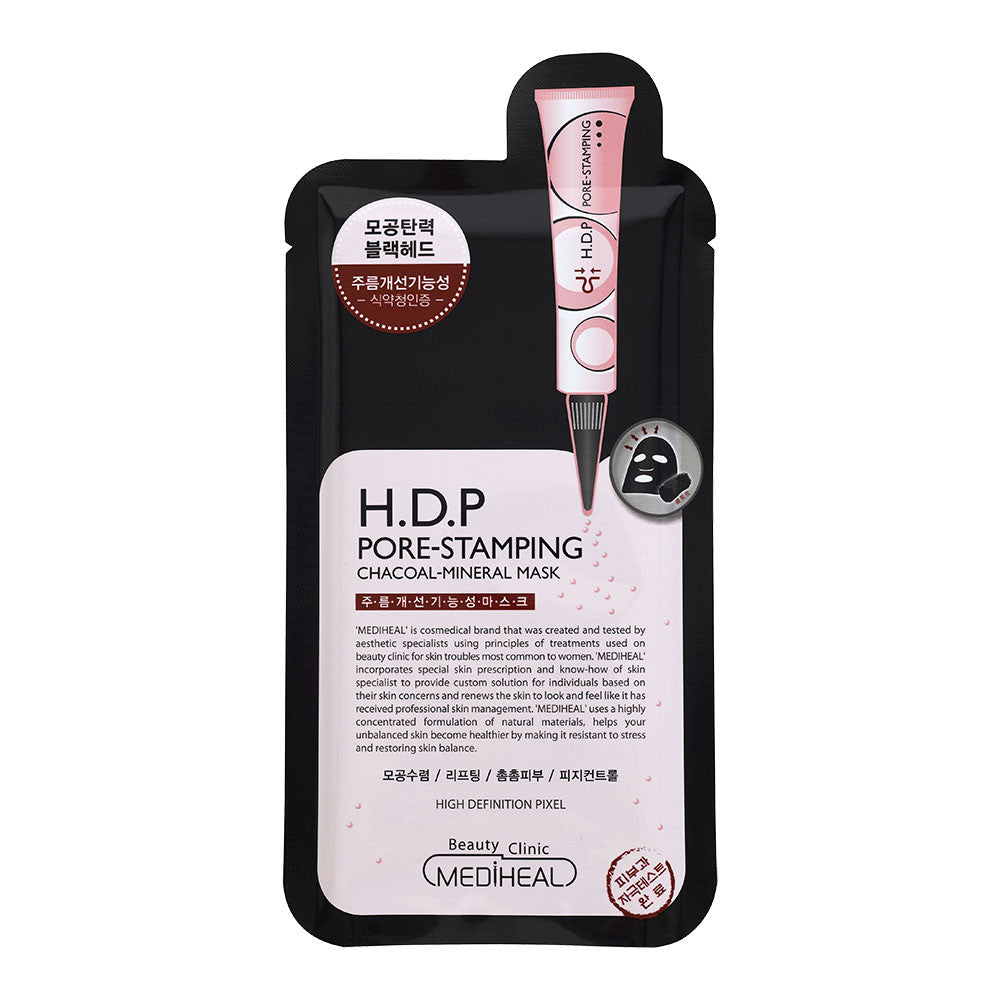 Mediheal H.D.P Pore Stamping Charcoal Mask