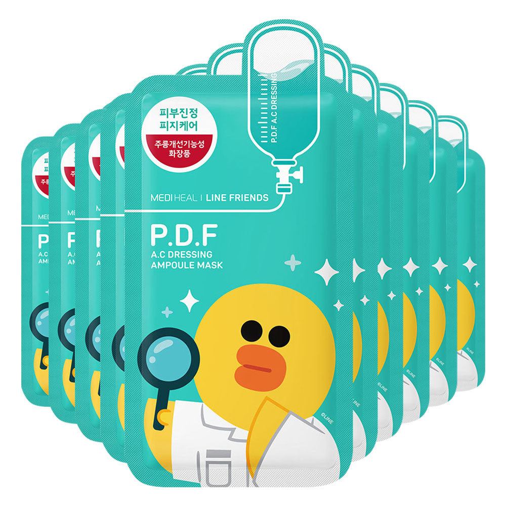 [CLEARANCE] Mediheal Line Friends P.D.F AC Dressing Ampoule Mask : 1 PC [EXPIRY: SEPT '18] - Yoskin