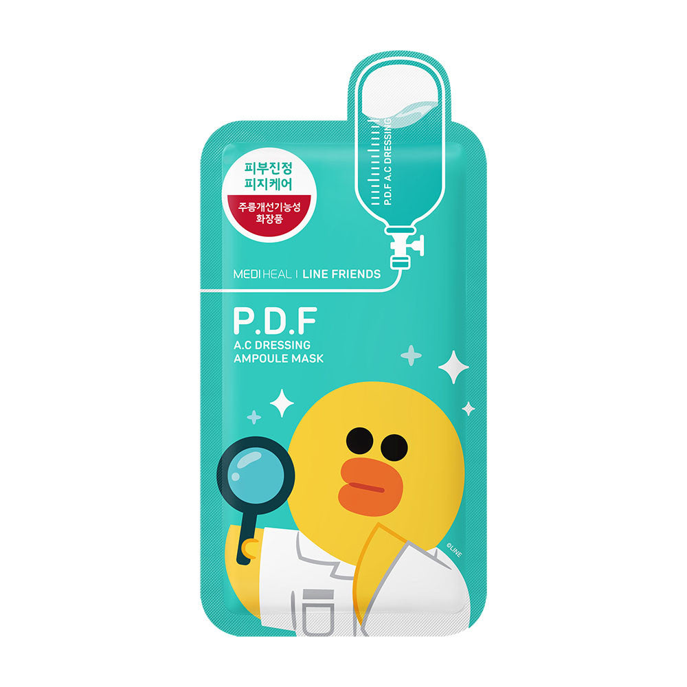 Mediheal Line Friends P.D.F AC Dressing Ampoule Mask [EXPIRED DATE : 29 JANUARY 2021]