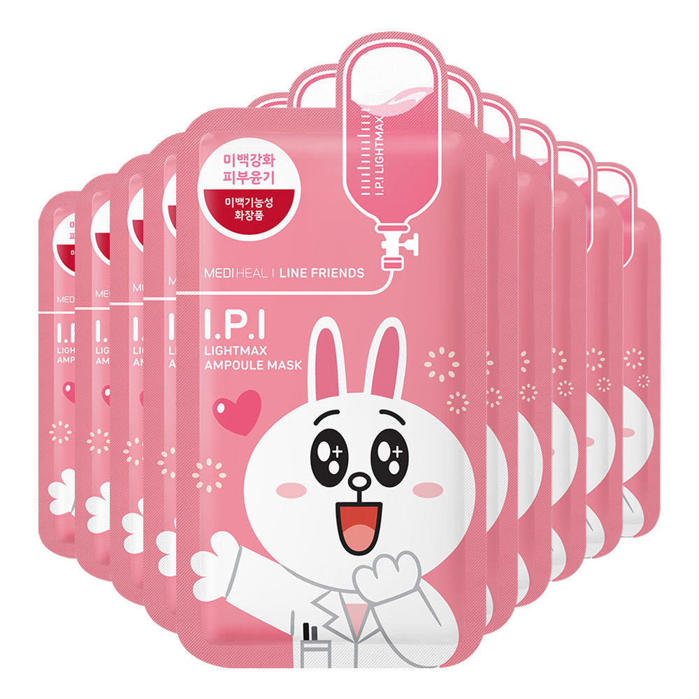 SPECIAL BUNDLE! Mediheal Line Friends I.P.I Lightmax Ampoule Mask - Yoskin