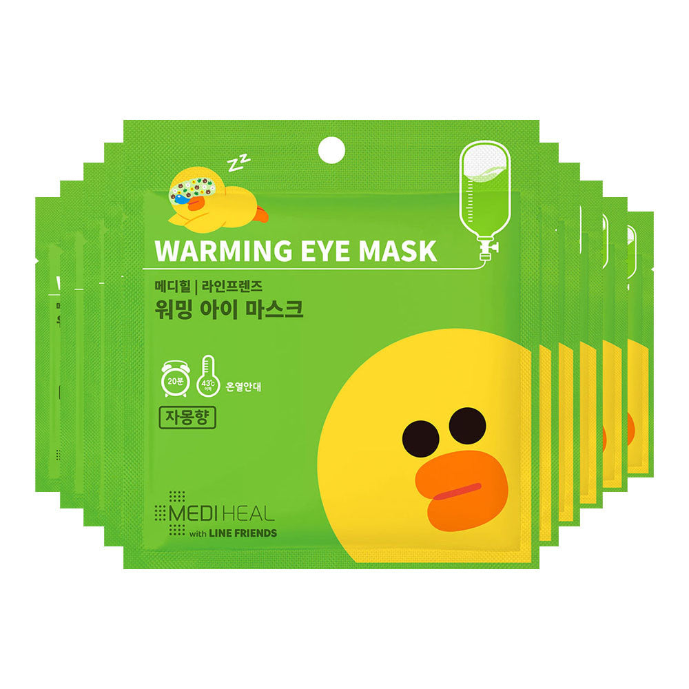 Mediheal Line Friends Warming Eye Mask (Citrus) - Yoskin