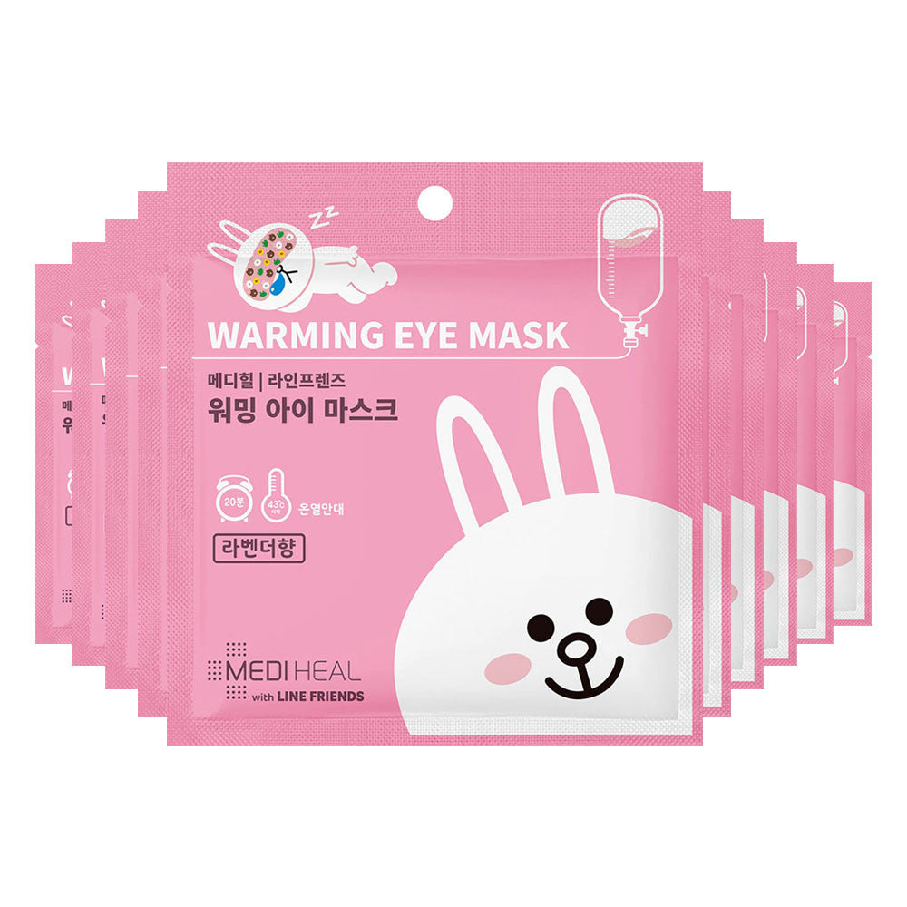 [CLEARANCE] Mediheal Line Friends Warming Eye Mask (Lavender) [EXPIRED DATE : 20 OCTOBER 2019] - Yoskin