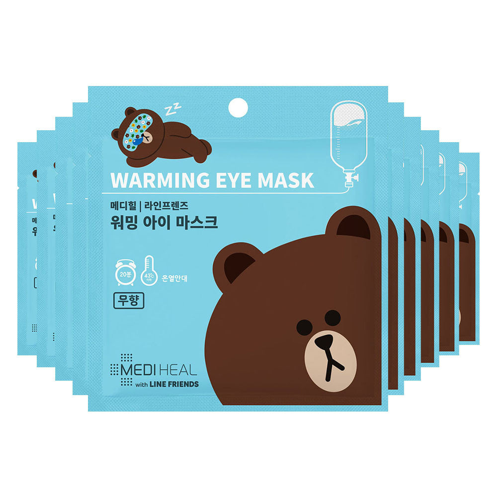 Mediheal Line Friends Warming Eye Mask (Unscented) (Expiry Date: Sep 2019) - Yoskin