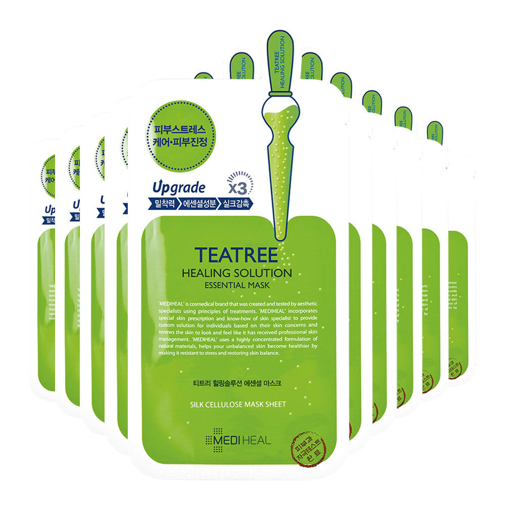 [CLEARANCE] Mediheal Teatree Healing Solution Essential Mask : 1 PC [EXPIRY: AUG '18] - Yoskin