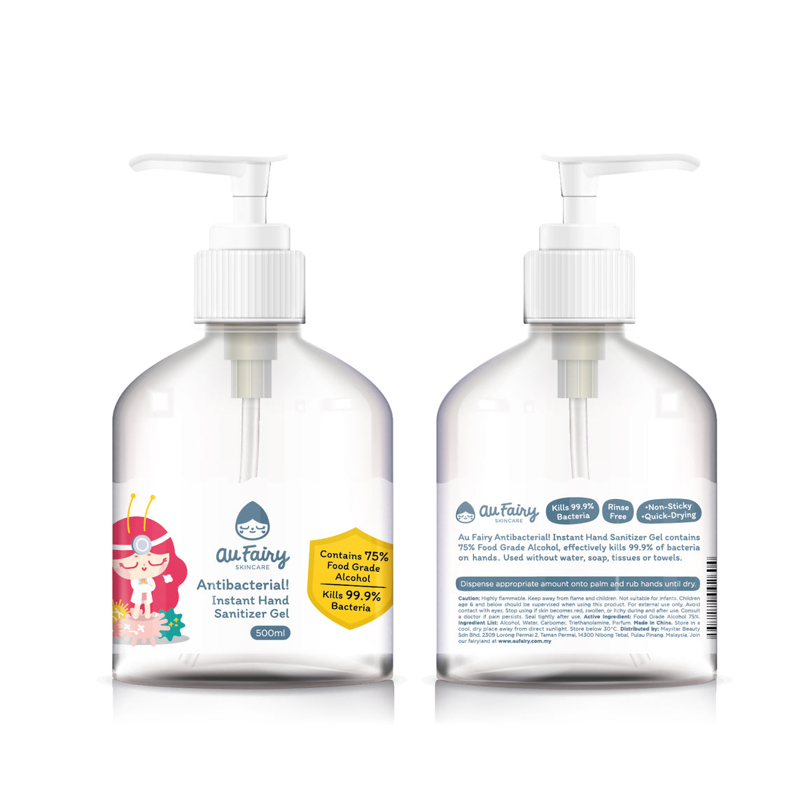 Au Fairy Antibacterial! Instant Hand Sanitizer Gel - 500ml