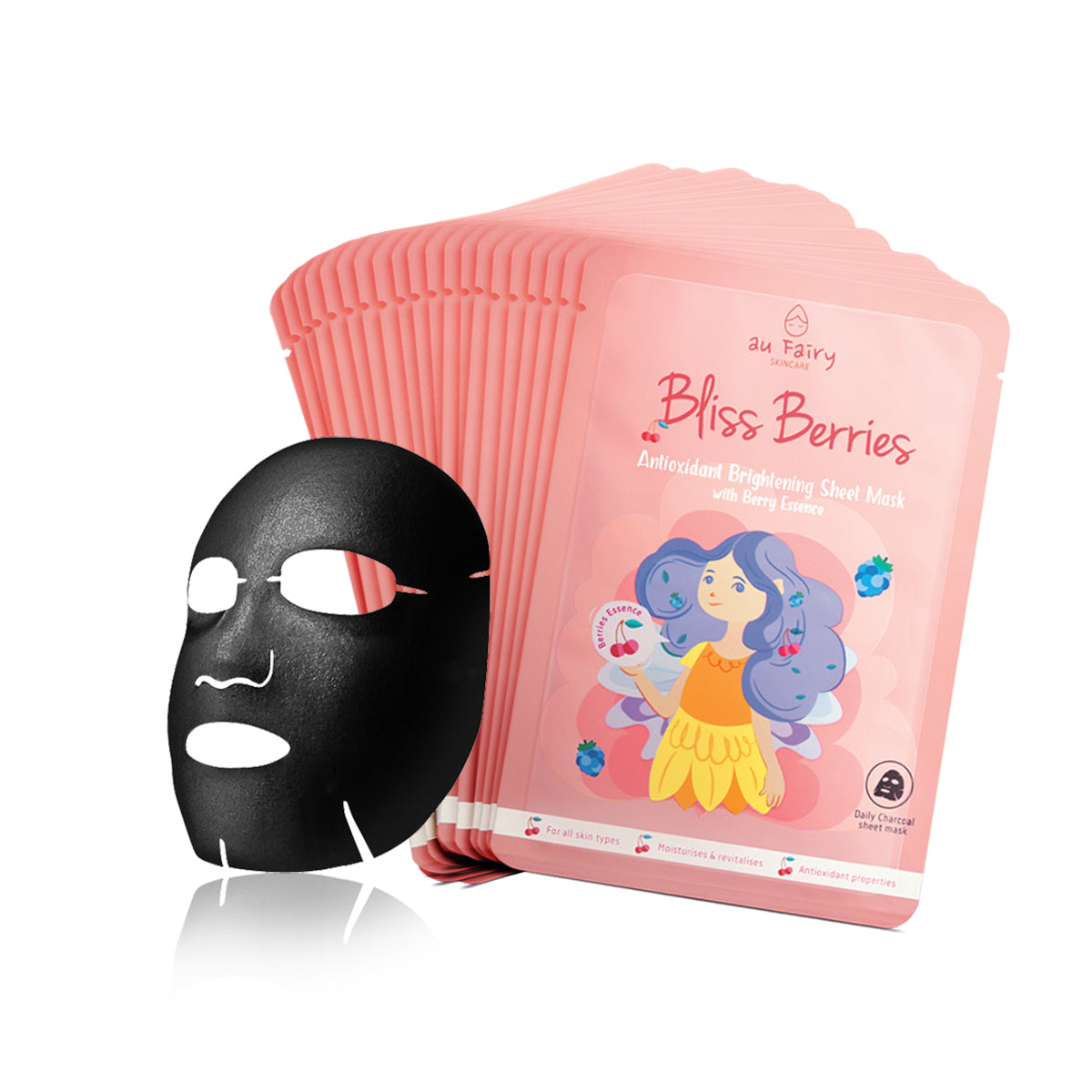 BUY 1 FREE 1: AUFAIRY Bliss Berries Brightening Mask - Berries Essence