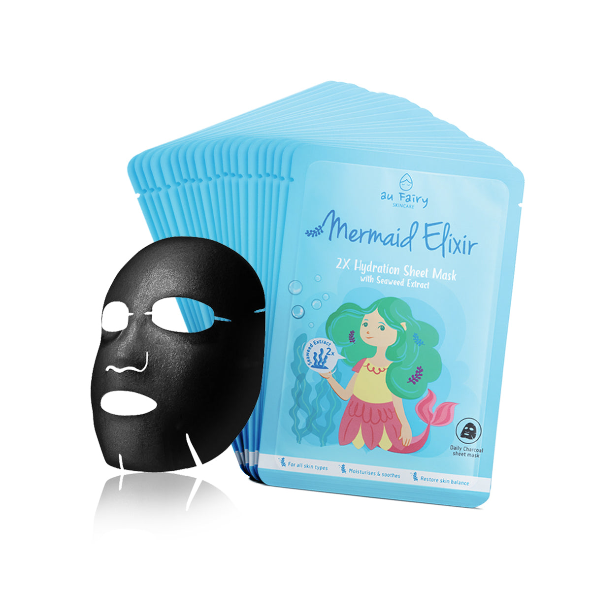 BUY 1 FREE 1: AUFAIRY Mermaid Elixir Deep Moisturizing Mask - Seaweed Essence
