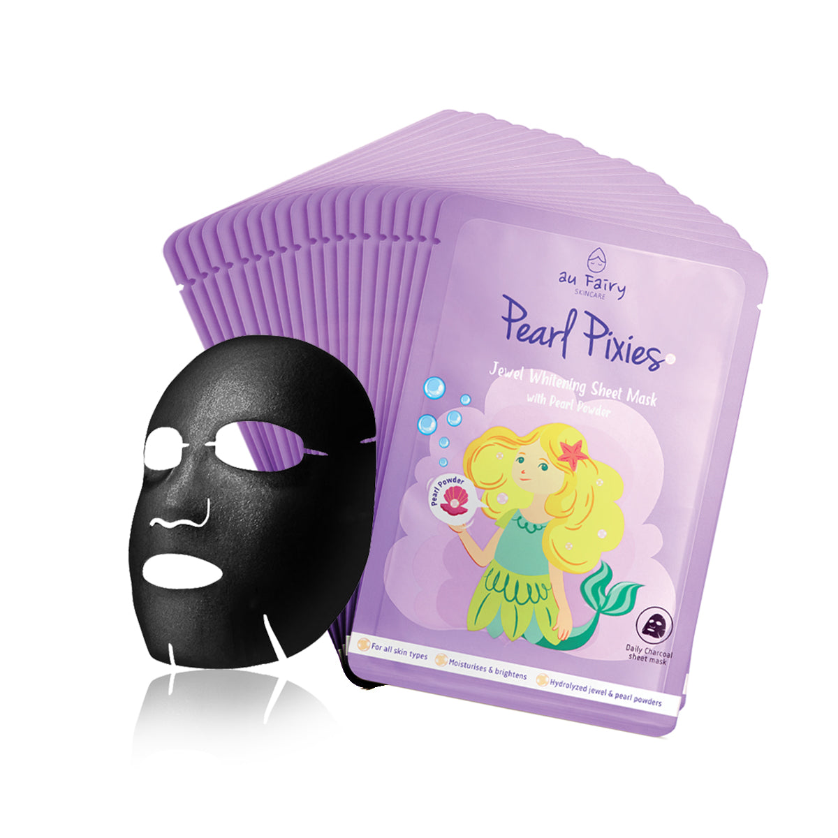 BUY 1 FREE 1: AUFAIRY Pearl Pixies Whitening Mask - Pearl Essence