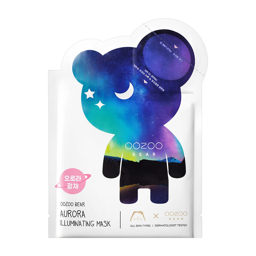 [CLEARANCE] THE OOZOO OOZOO Bear Aurora Illuminating Mask : 1 PC [EXPIRY: SEP '19] - Yoskin