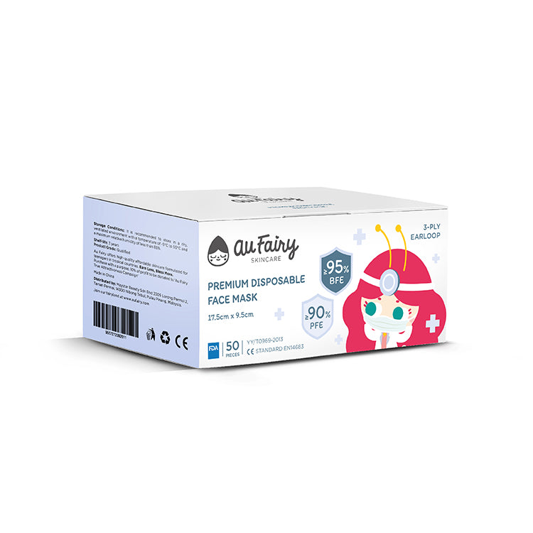 Au Fairy Premium Disposable Face Mask - 50pcs