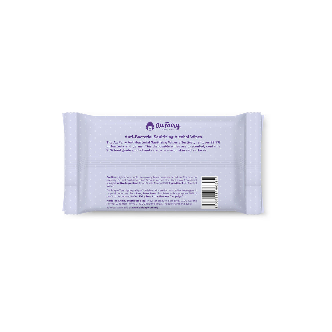 Au Fairy Anti-bacterial Sanitizing Alcohol Wipes - 50s