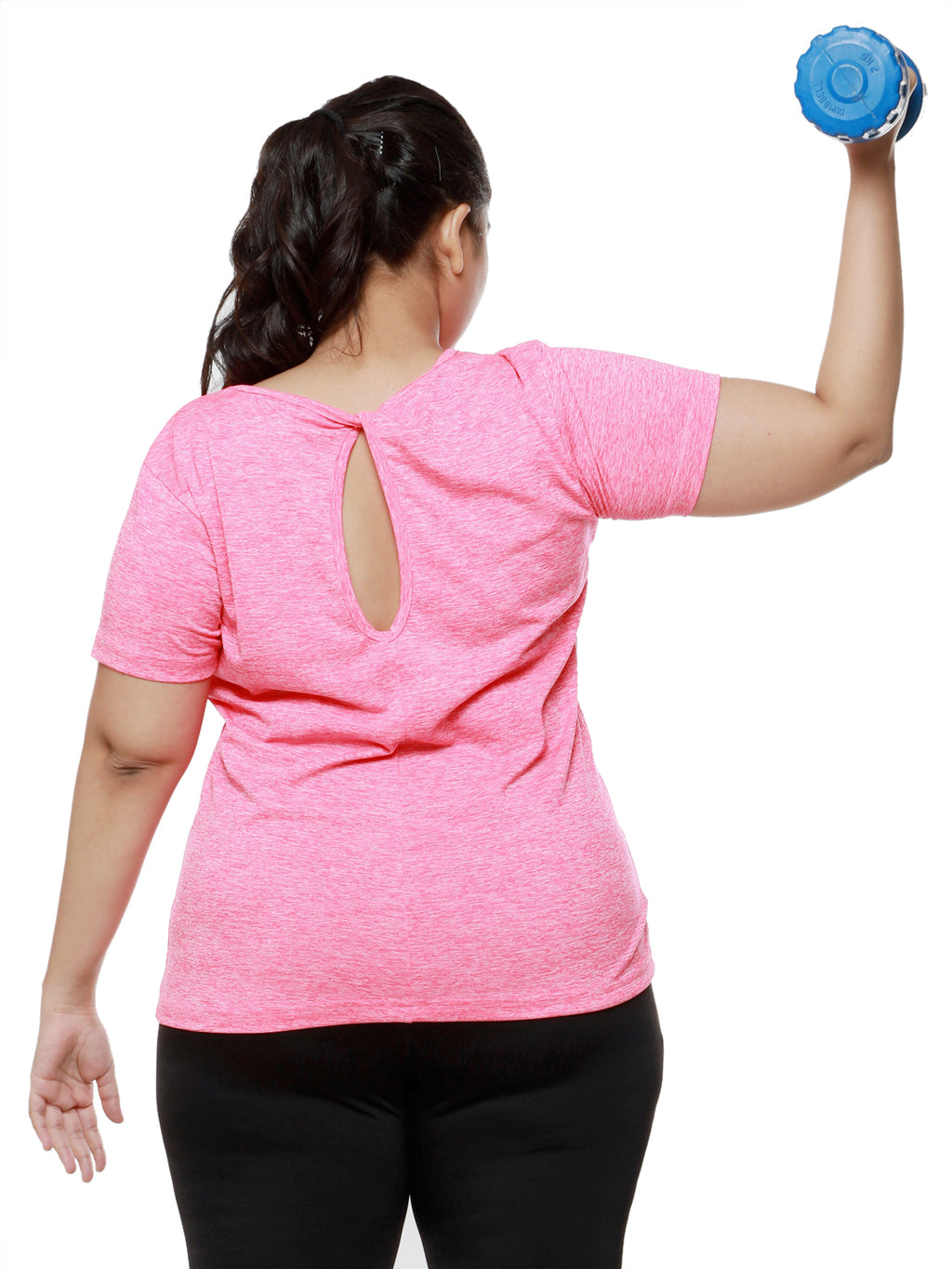 Neo Pink Twisty Back Tee