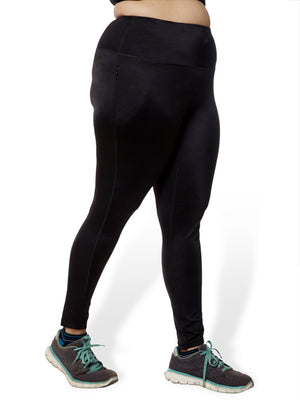 Plain Black Power Fashion Leggings