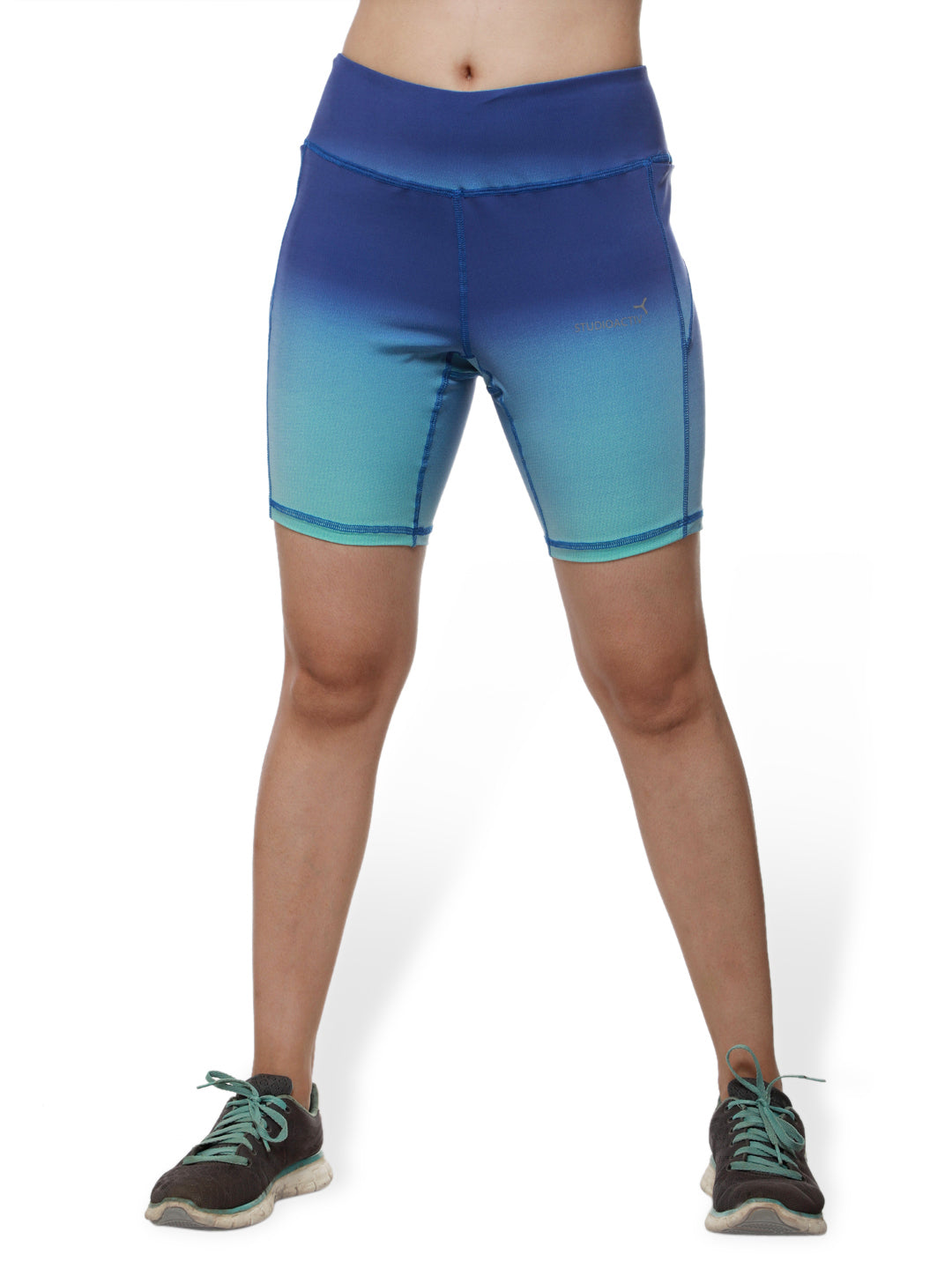 Blue Dip Dye Free Bird Training Shorts