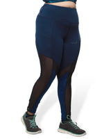 Navy Blue Mesh Freedom Leggings