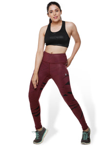 Wine Print Power Fashion Leggings