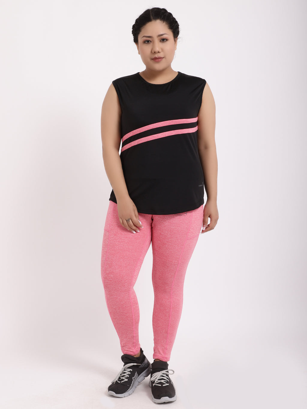 Black Neo-Pink Be Strong Tee