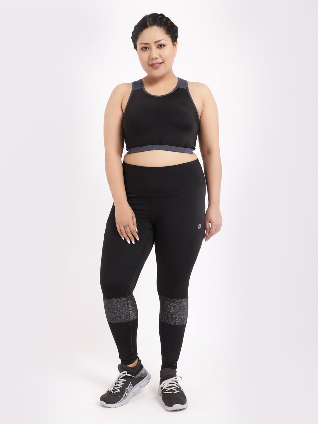 Black Shimmer Tres Chic Leggings