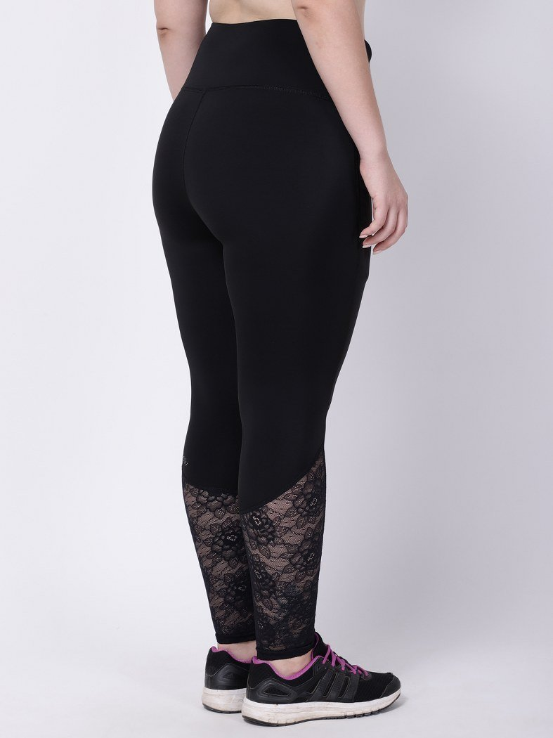 Black Lace Dainty Darling Leggings