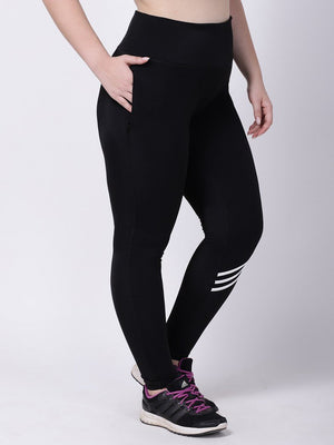 Black White Striped Ace Leggings