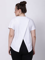 White Printed I-Have-Your-Back Tee