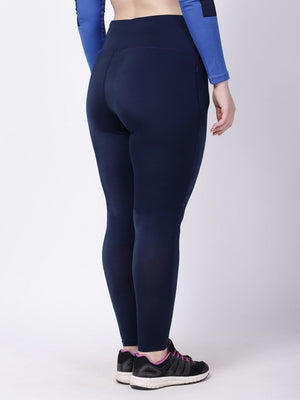 Navy Royal Blue Striped Ace Leggings
