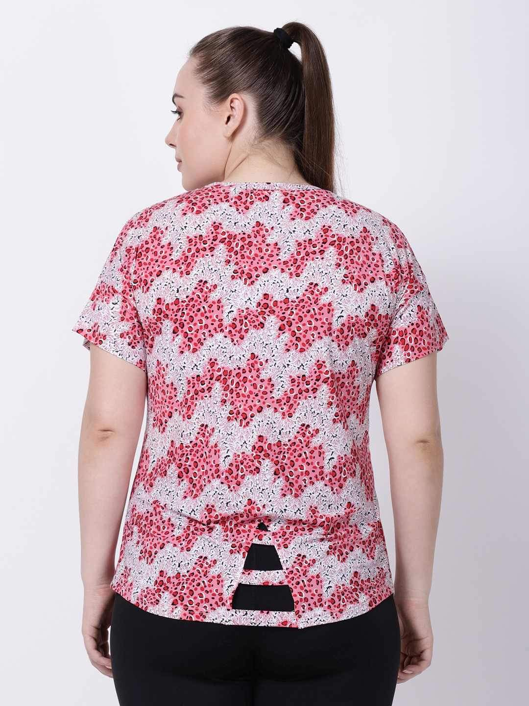 Pink Red Printed Ace Tee